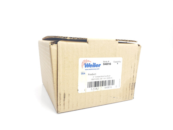 WEILER 94816 WIRE CUP BRUSH (NEW IN BOX)