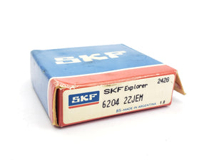SKF EXPLORER 6204-2ZJEM SINGLE ROW DEEP GROOVE RADIAL BALL BEARING (RUST)