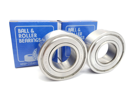 FAFNIR (LOT OF 2) 207KTT DEEP GROOVE RADIAL BALL BEARING (BLEMISHED)