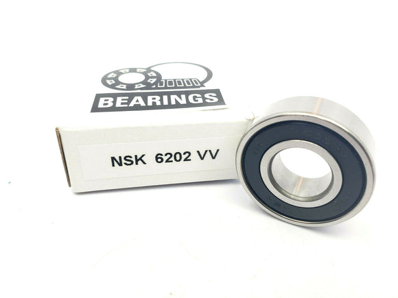 NSK 6202VV DEEP GROOVE RADIAL BALL BEARING