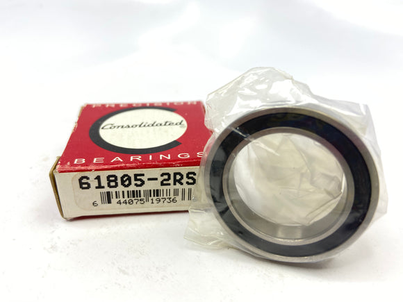 Consolidated (SMT) 61805-2RS (6805-2RS) Radial Ball Bearing