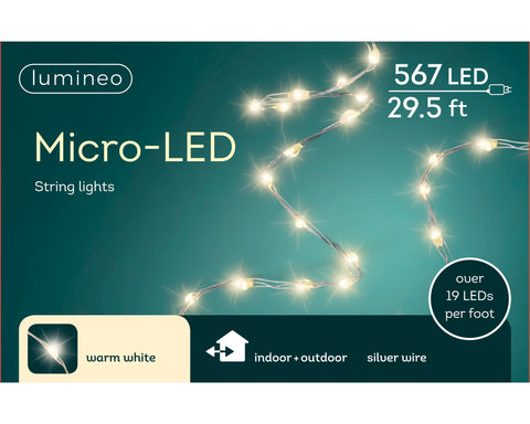 micro LED strengverl. silver wire - warm wit