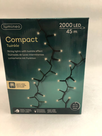 Lumineo compact twinkel warm wit