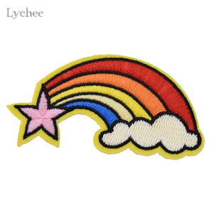 Rainbow Unicorn Cartoon Patches Embroidered Cute Patch For Clothing Jeans