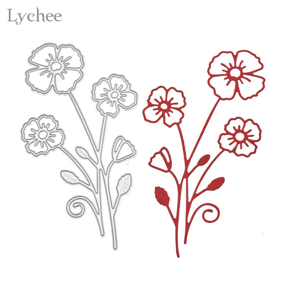 Three Flowers Metal Cutting Dies Stencil DIY Scrapbook Album Paper Cards Die Cutting Template