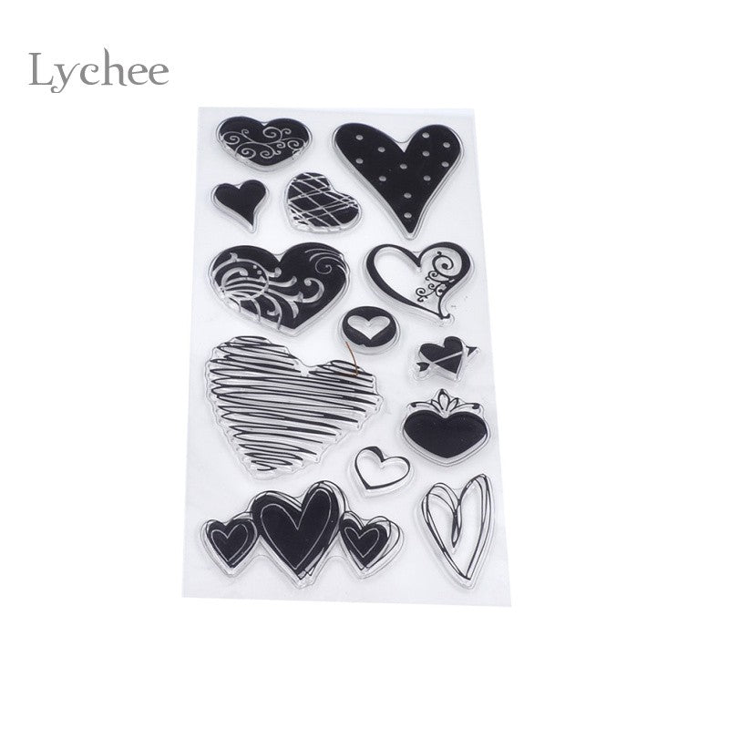 Vintage Heart Transparent Clear Silicone Seal Stamp DIY Card Making Christmas Supplies Album