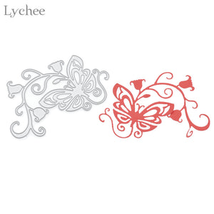 Morning Glory Butterfly Cutting Dies DIY Scrapbooking Album Die Cutting Template