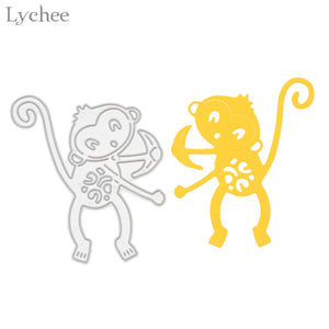 Paper-cut Monkey Cutting Dies DIY Scrapbooking Embossing Die Cutting Template