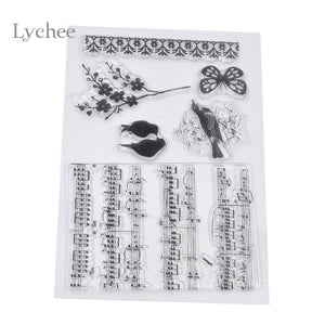 Musical Notes Transparent Clear Stamp Scrapbooking Album Diary Decoration Stamps