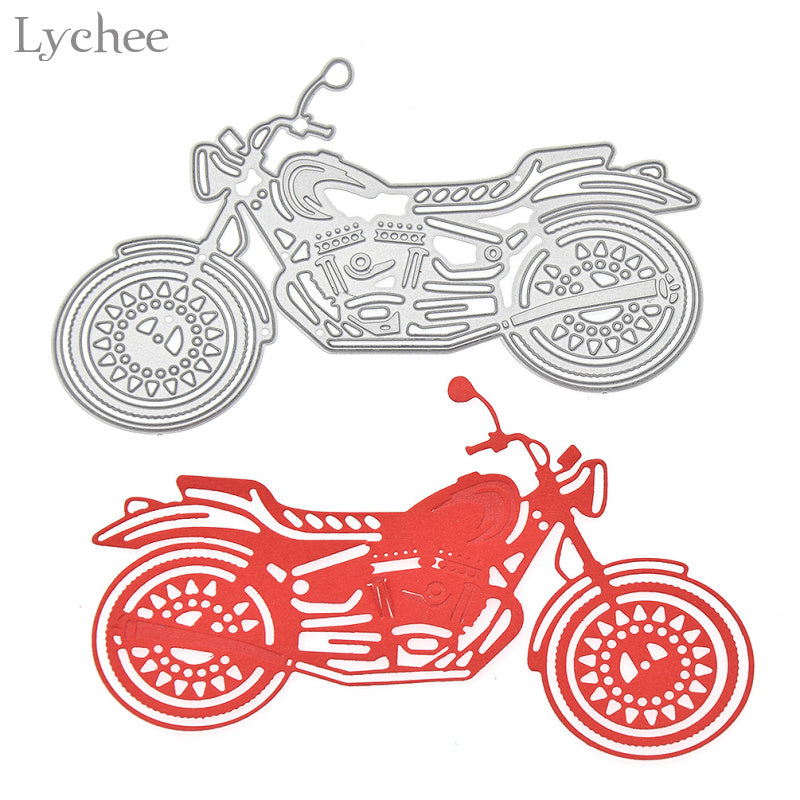 Motorcycle Cutting Dies Stencils DIY Scrapbooking Album Embossing Template