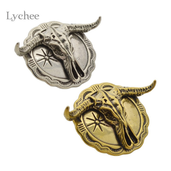 Solid Brass Leather Craft Ox Horn Eagle Punk Screw Back Conchos Decorative