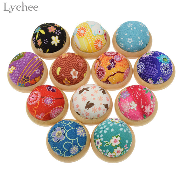 Floral Printed Needle Pin Cushion DIY Handcraft Tool Stitch Sewing Needlework Accessory