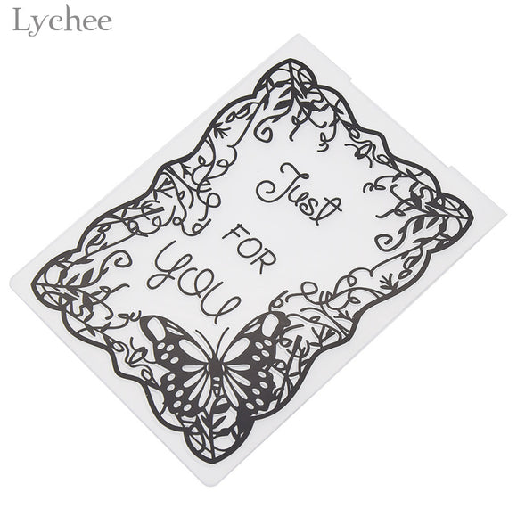 Just For You Embossing Folder For Scrapbook DIY Template Stamp Card Making