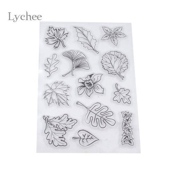 Leaves Transparent Clear Silicone Seal Stamp DIY scrapbooking Decorative Supplies