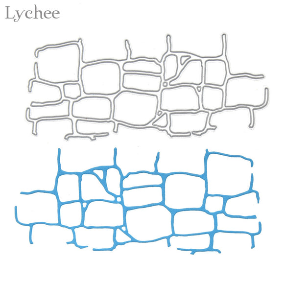 Irregular Bricks Metal Cutting Dies Stencils DIY Scrapbooking Embossing Template