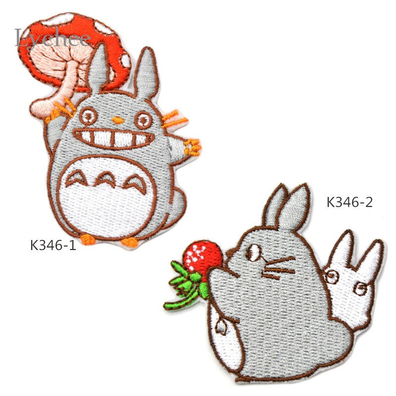 Totoro Embroidered Iron On Patch DIY Embroidery Crochet Clothes Appliques