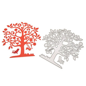 Tree Design Cutting Dies Stencils DIY Scrapbooking Album Embossing Folder Template