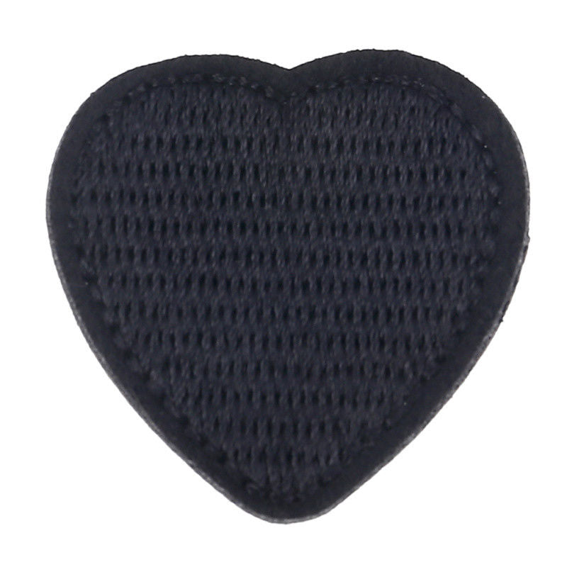 10 pcs Black Heart Patches Embroidery Iron On Bages DIY Clothing Sewing Applique
