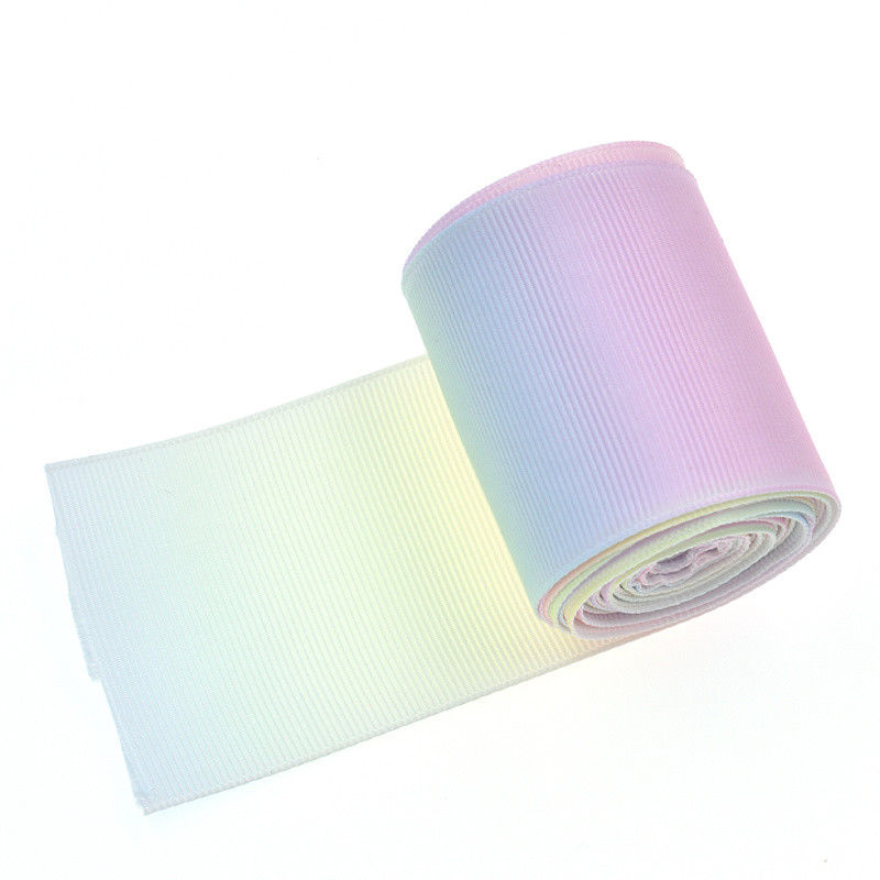 5 Yards Rainbow Gradient Color Grosgrain Ribbon DIY Edge Craft Party Home Decor