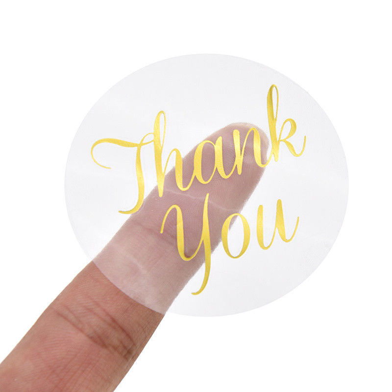 90 Pcs Gold Thank You Design Stickers Labels Birthday Christmas thanksgiving Tag