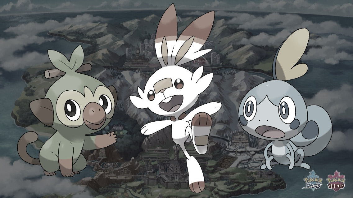 3 starters in Pokémon Sword and Shield pokemon faction