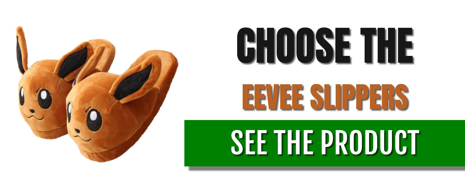 Eevee slippers adult product banner