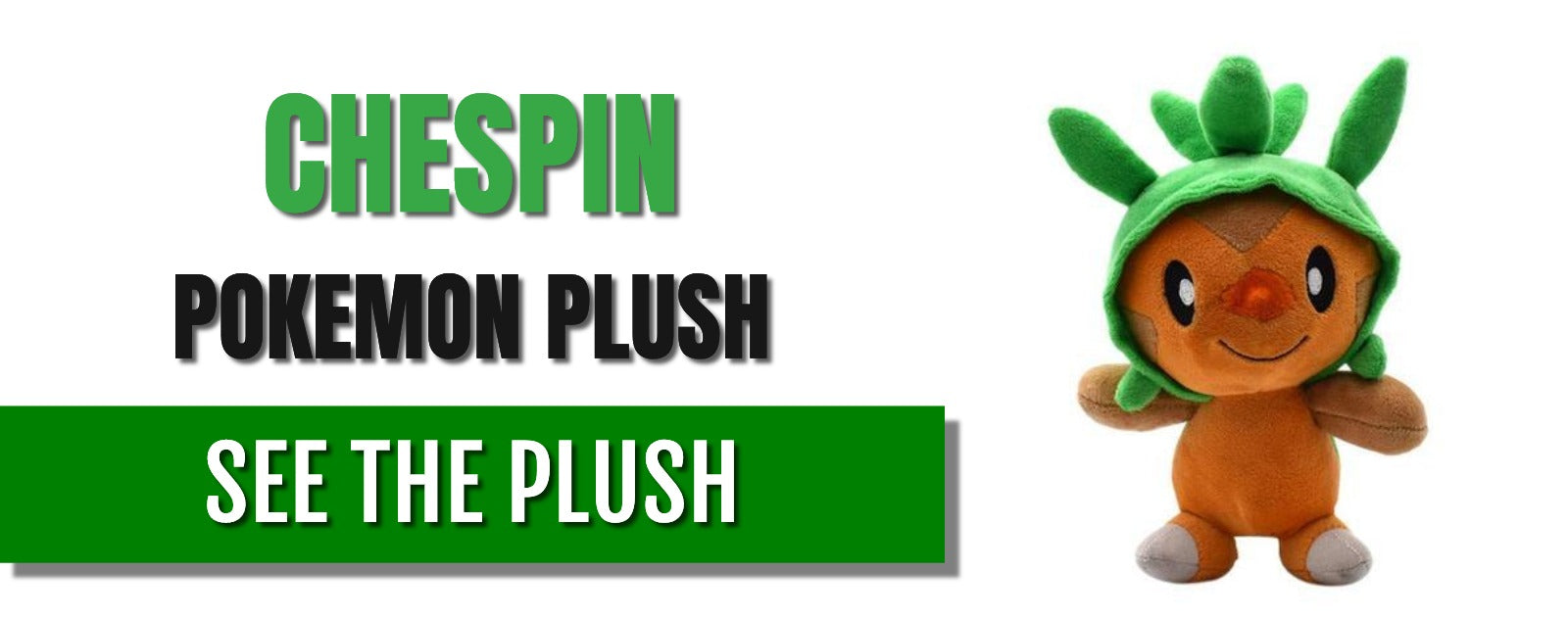 chespin pokemon plush