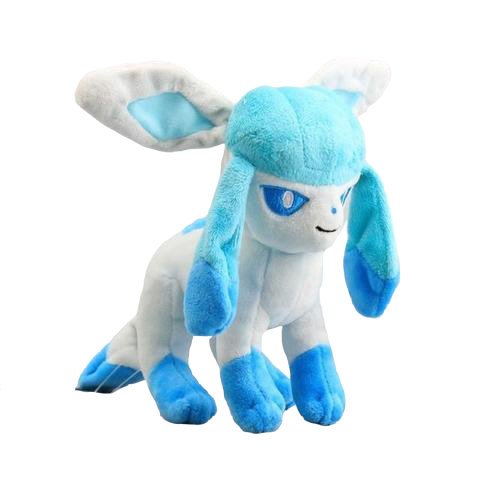 Glaceon pokemon plush with white background