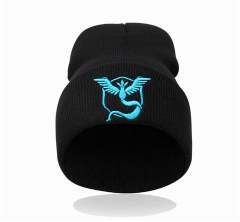 black-Team-mystic-beanie front view