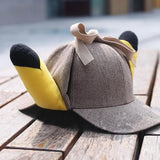 Pokémon detective pikachu plush ears hat from an other point of view