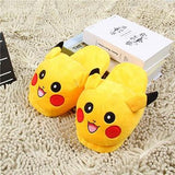 pair of slippers of pikachu from the anime pokemon