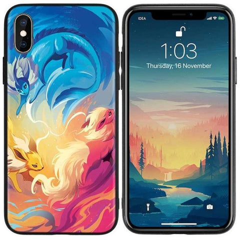 Pokemon phone case for iPhone Flareon, Jolteon, Vaporeon