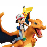 Pokemon figure Ash and Charizard