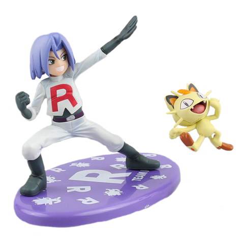 Pokemon figure James and Meowth