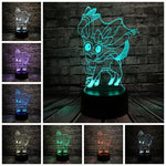 list of all possible color for this Sylveon lamp