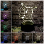 list of possible color of the Pikachu lamp 3d
