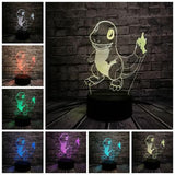 list of all possible colors of this Charmander lamp 3d