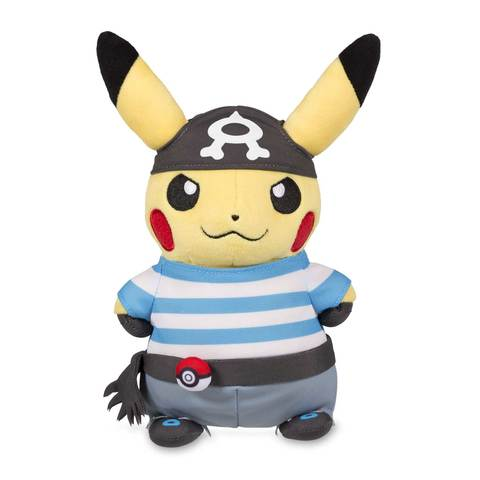 Pikachu in team aqua costume poké plush