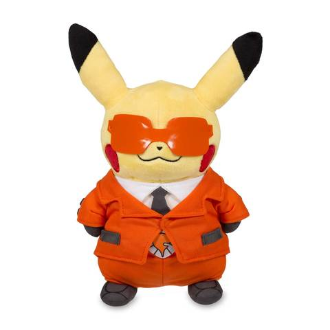 Team flare pikachu plush front view