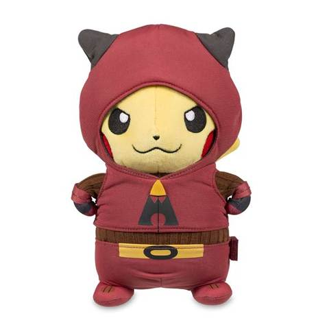 Pikachu team magma plush front view