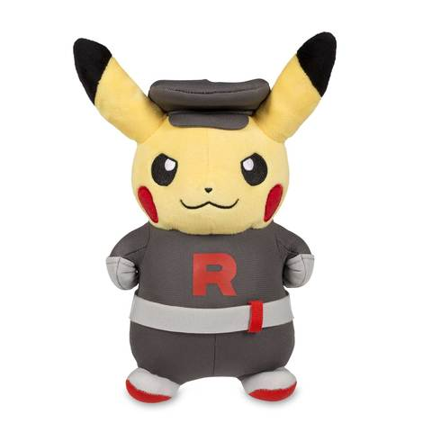 team rocket pikachu plush front view