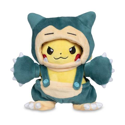 Pikachu snorlax plush with hood
