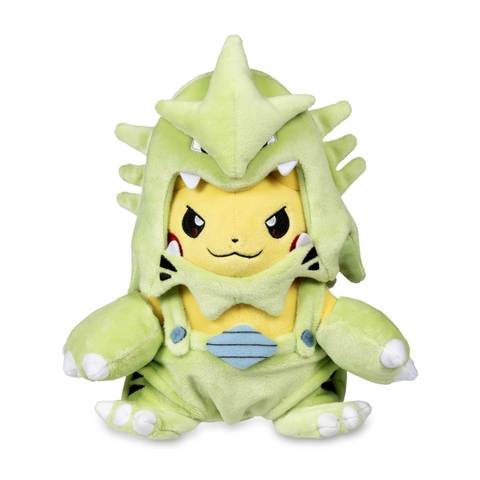 Pokemon plush of Pikachu in Tyranitar