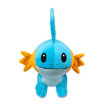 Mudkip plush on the front view