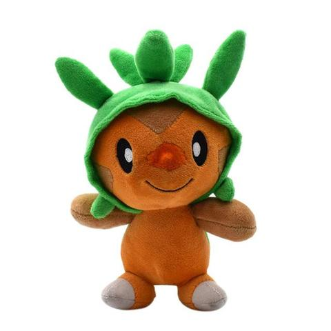 Chespin plush toy on its front view