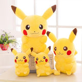 Family of classic pikachu plush