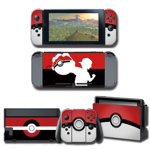 Pokemon stickers Trainer Nintendo Switch