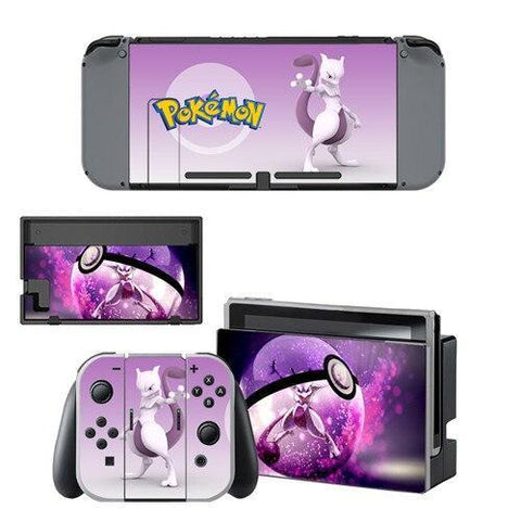 Pokemon stickers <br> Mewtwo Pokeball Nintendo Switch | Pokemon Faction