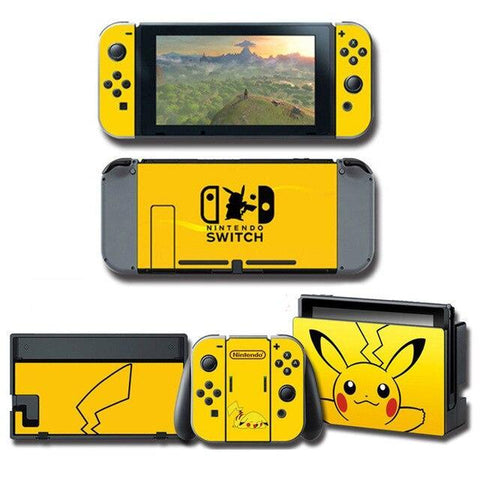 Pokemon stickers Pikachu Nintendo Switch