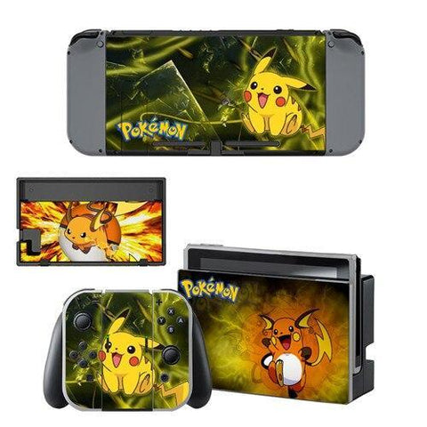 Pokemon stickers <br> Pikachu Raichu Nintendo Switch | Pokemon Faction